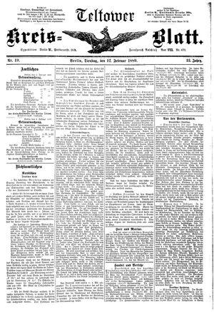 Teltower Kreisblatt vom 12.02.1889