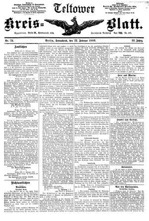 Teltower Kreisblatt on Feb 23, 1889