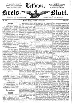 Teltower Kreisblatt vom 26.02.1889