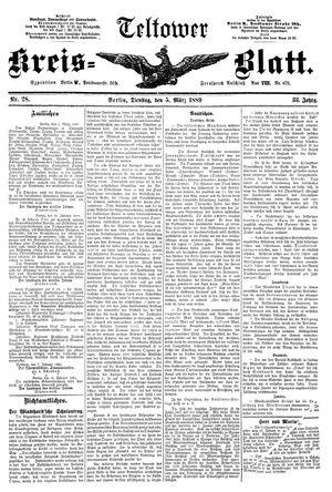 Teltower Kreisblatt vom 05.03.1889