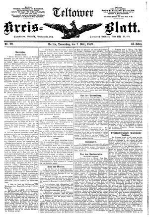 Teltower Kreisblatt vom 07.03.1889
