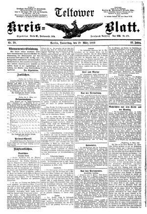Teltower Kreisblatt vom 28.03.1889