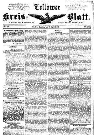 Teltower Kreisblatt vom 02.04.1889