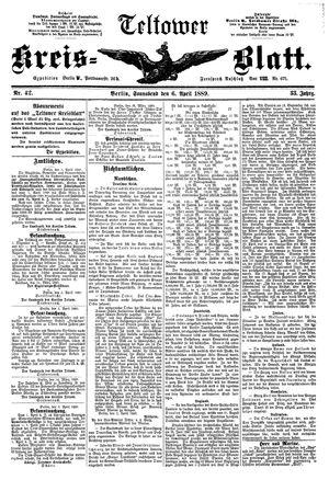 Teltower Kreisblatt on Apr 6, 1889