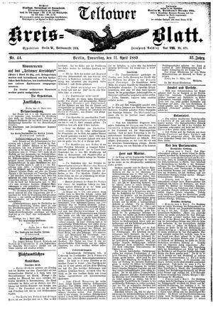 Teltower Kreisblatt vom 11.04.1889