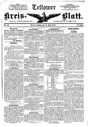 Teltower Kreisblatt vom 16.04.1889