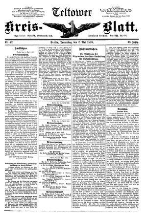 Teltower Kreisblatt vom 02.05.1889