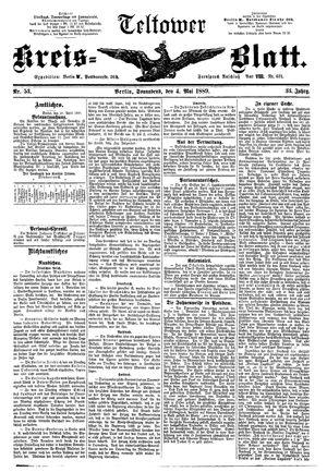 Teltower Kreisblatt vom 04.05.1889