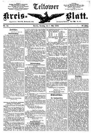 Teltower Kreisblatt vom 07.05.1889