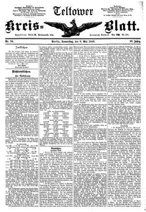 Teltower Kreisblatt vom 09.05.1889