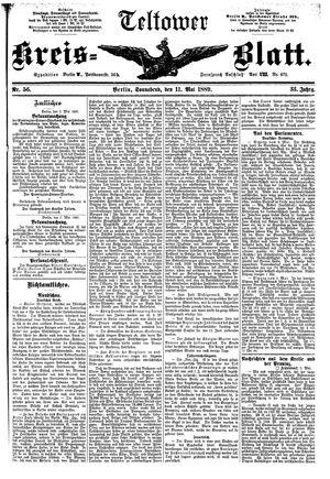 Teltower Kreisblatt vom 11.05.1889