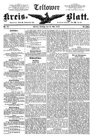 Teltower Kreisblatt vom 21.05.1889