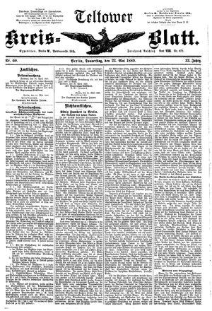 Teltower Kreisblatt vom 23.05.1889