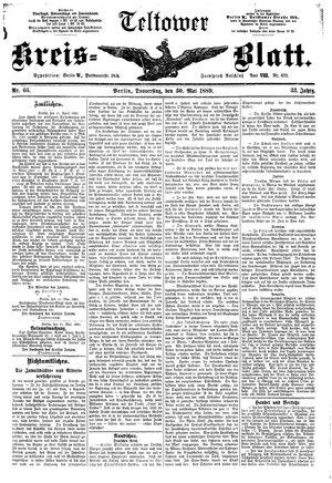 Teltower Kreisblatt vom 30.05.1889