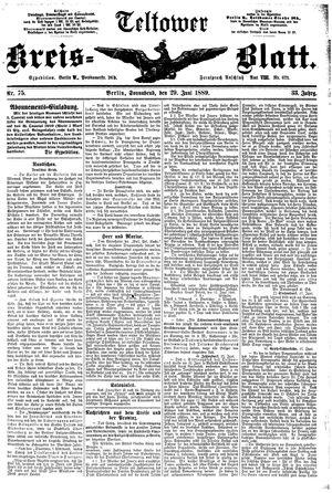 Teltower Kreisblatt vom 29.06.1889