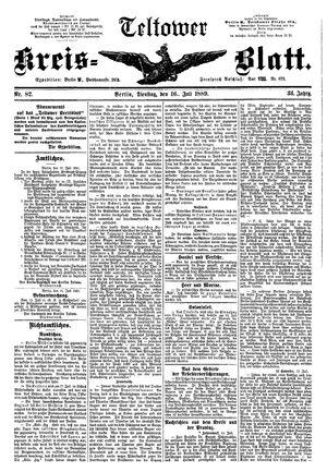 Teltower Kreisblatt on Jul 16, 1889