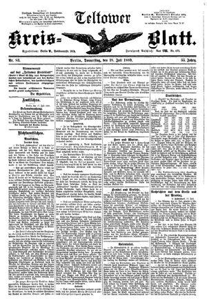 Teltower Kreisblatt vom 18.07.1889
