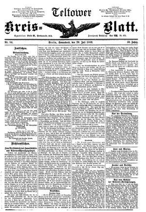 Teltower Kreisblatt on Jul 20, 1889