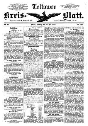 Teltower Kreisblatt vom 23.07.1889