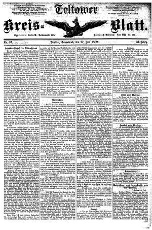 Teltower Kreisblatt vom 27.07.1889