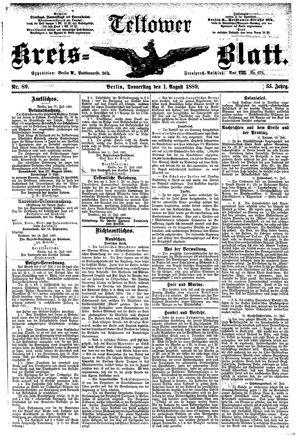 Teltower Kreisblatt vom 01.08.1889