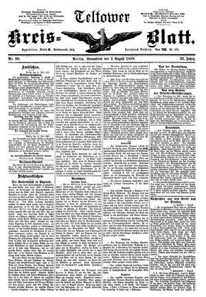 Teltower Kreisblatt vom 03.08.1889