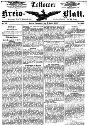 Teltower Kreisblatt vom 15.08.1889