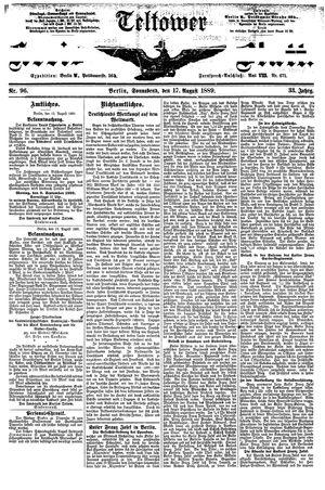 Teltower Kreisblatt vom 17.08.1889