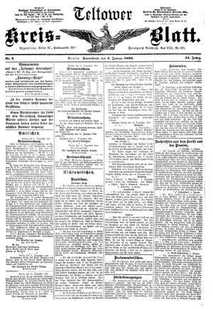 Teltower Kreisblatt vom 04.01.1890