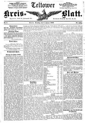 Teltower Kreisblatt vom 07.01.1890