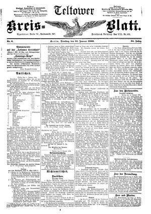 Teltower Kreisblatt vom 14.01.1890