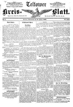 Teltower Kreisblatt vom 18.01.1890
