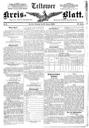 Teltower Kreisblatt vom 21.01.1890