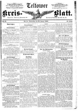 Teltower Kreisblatt vom 23.01.1890