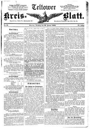 Teltower Kreisblatt vom 28.01.1890