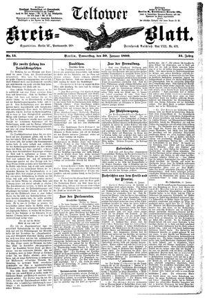 Teltower Kreisblatt vom 30.01.1890