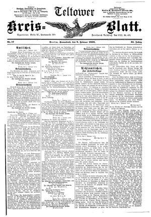 Teltower Kreisblatt vom 08.02.1890