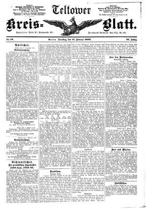Teltower Kreisblatt vom 11.02.1890