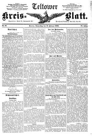 Teltower Kreisblatt vom 13.02.1890