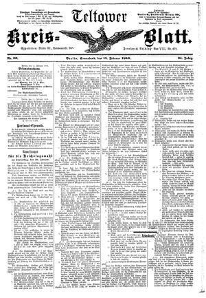 Teltower Kreisblatt vom 15.02.1890