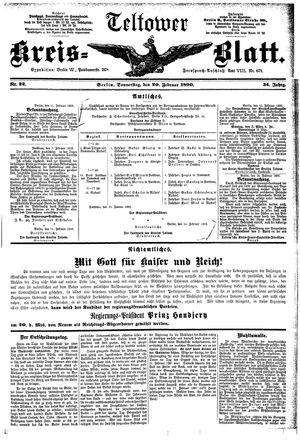 Teltower Kreisblatt vom 20.02.1890