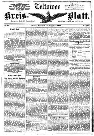 Teltower Kreisblatt vom 22.02.1890