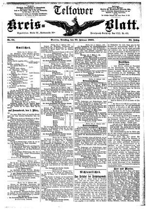 Teltower Kreisblatt vom 25.02.1890
