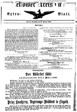 Teltower Kreisblatt vom 27.02.1890