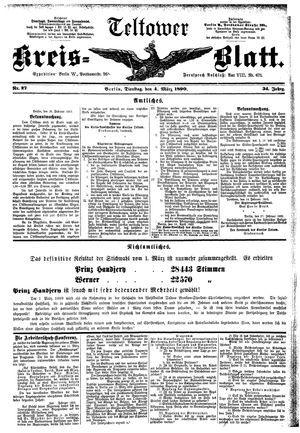 Teltower Kreisblatt vom 04.03.1890