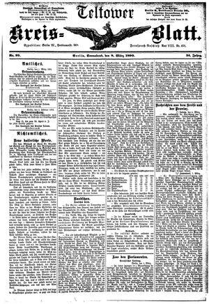 Teltower Kreisblatt vom 08.03.1890