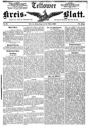 Teltower Kreisblatt vom 13.03.1890
