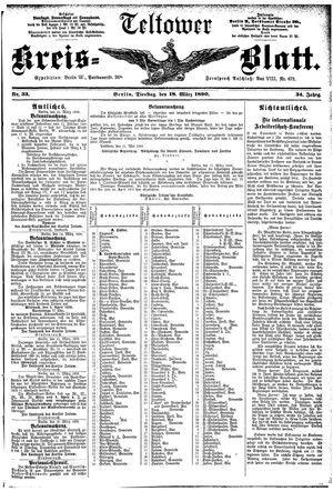 Teltower Kreisblatt vom 18.03.1890