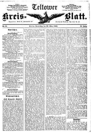 Teltower Kreisblatt vom 20.03.1890