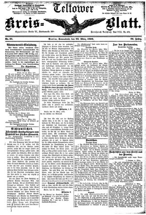 Teltower Kreisblatt vom 22.03.1890